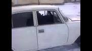 москвич в снега