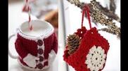 Коледна украса от плетени играчки
