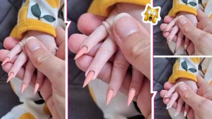 Светът полудя съвсем: Майка предлага изграждане на нокти на... бебета! Интернет реагира остро