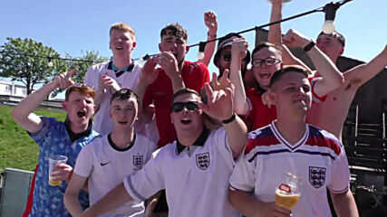 UK: Enormous St George's Cross adorns Plymouth pub attracting fans for Euro 2020 clash with Croatia