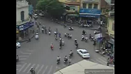 Лудото Улично Движение Във Виетнам