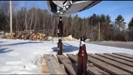 Готин номер с багер и бирени бутилки