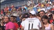 Реал Мадрид преди последния си мач в САЩ срещу Манчестър Юнайтед