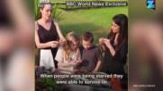 Анджелина Джоли учи децата си да ядат паяци