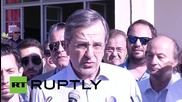 "Greece: Former PM Samaras votes ""Yes to Greece - Yes to Europe"""