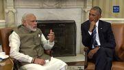 USA: Modi and Obama stress mutual cooperation during press briefing