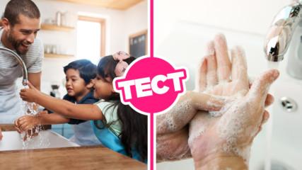 ТЕСТ: Знаеш ли как правилно да си миеш ръцете?
