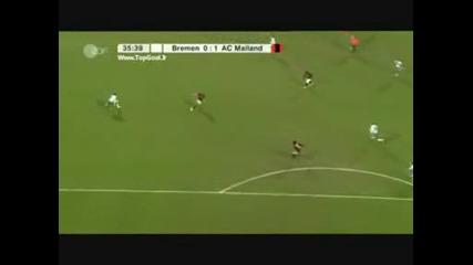 Werder Bremen - Milan 1 - 1 Uefa 18 - 02 - 2009