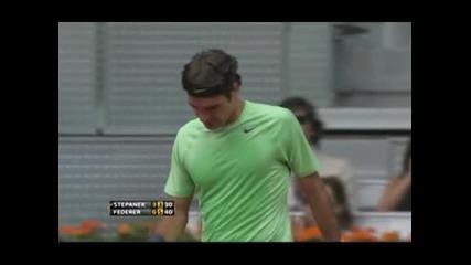 Федерер победи Щепанек в Мадрид след 54 дни извън корта