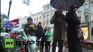 Russia: St. Petersburg residents pay tribute to Paris at French Consulate