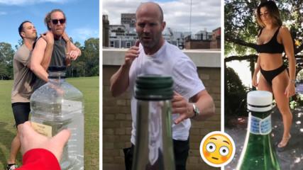 Новата мания дойде: Светът полудя по ново предизвикателство - Bottle Cap!