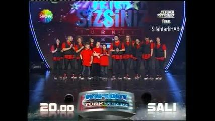 Turkish got Talent show Final Yetenek sizsiniz Turkiye Buyuk Final Tokio Tekkan 19 Mart 2011