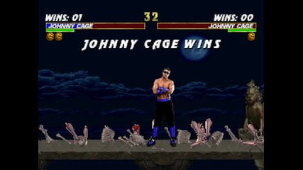 Mortal Kombat Trilogy - Johnny Cage - Fatality #2 - Psx