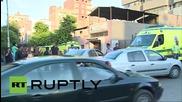 Egypt: Additional ambulances arrive at morgue to collect crash victims' bodies