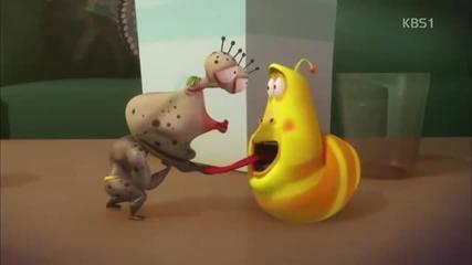 Larva - много смях(виолетовия на гости и диетата на жълтия)