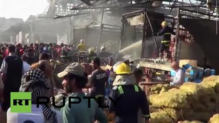 Ирак: Бомбена експлозия убива над 50 души на пазара в Багдат