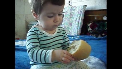 А сега де как се яде тоя хляб