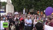 UK: Pro-PR activists protest against 'unfair' voting system outside parliament