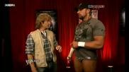 смях! Маггрубър, Играта и Кейн [backstage] | Raw 19/04/10 |