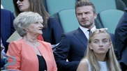 David Beckham Catches Tennis Ball at Wimbledon