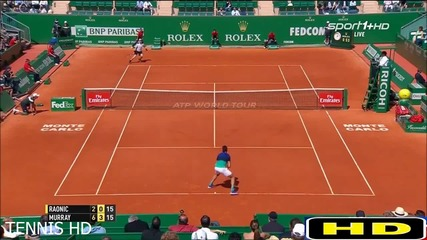 Murray vs Raonic - Monte Carlo 2016 Quaters