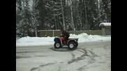 Луди Руснаци карат Bmw M3 и Atv през зимата