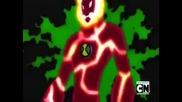 Бен 10 Ултра Извънземен: 10 годишния Бен се трансформира в Огнен Порив