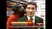 Звездата на Галатасарай Ебуе си прави майтап с журналист