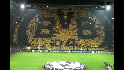 Borussia Dortmund - Mancity Choreo Champions League