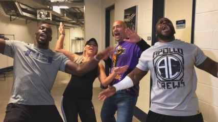 Titus Worldwide calls on Penn State's James Franklin to help them win on WWE Mixed Match Challenge