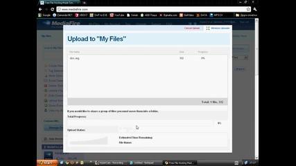 Как да качим файл в Mediafire и как да му сложим парола!