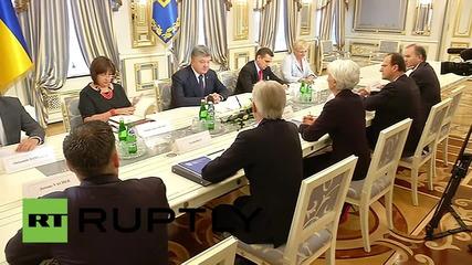 Ukraine: Poroshenko hosts the IMF's Lagarde in Kiev