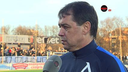 Хубчев пак сприхав: Нямахме желание за победа