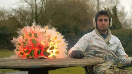 Експлозия на диня на забавен кадър