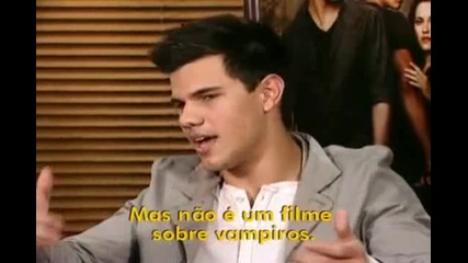 Interview with Kristen Stewart and Taylor Lautner to Fantastico