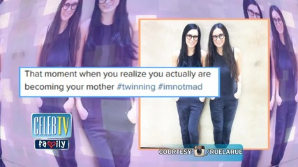 Rumer Willis & Demi Moore are Twinning!