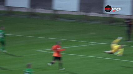 Коноплянка вкара втори гол за Шахтьор срещу Лудогорец