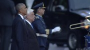 Greece: Obama greeted by Pavlopoulo at Athens' Presidential Mansion