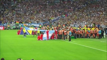Аржентинската агитка пее на Маракана Световно 2014 World cup Argentinian fans singing at Maracana Hd