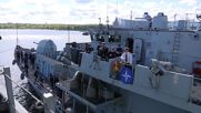 Estonia: Two NATO frigates dock in Tallinn after de-mining drills