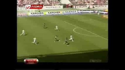 Волфсбург разбаза хановер с 5:0 ( всички голове )