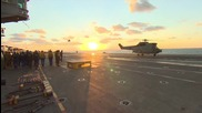Syria: Hollande visits French aircraft carrier used to combat IS