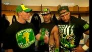 John Cena Dx And Hornswoggle Backstage Бг Субс