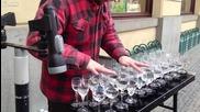 •невероятен талант ! Свирене на чаши