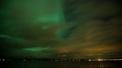 Северното сияние видяно и заснето от Норвегия с Canon Eos 5d Mark ll