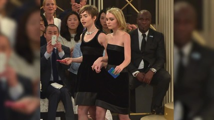 Lily Rose Depp & Mother Vanessa Paradise Walk Down the Same Paris Runway