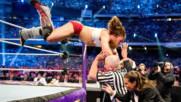 Даниел Брайън срещу ренди Ортън срещу Батиста! WrestleMania, целият мач