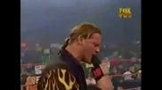 Raw 2001 Крис Джерико е представен като първият Безпорен Шампион