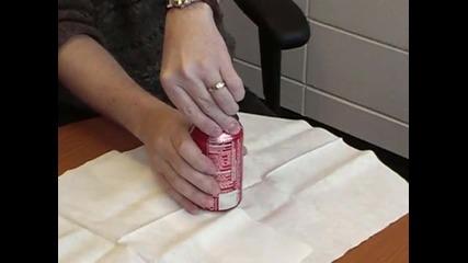 Как да обезвредите разклатена кока-кола.