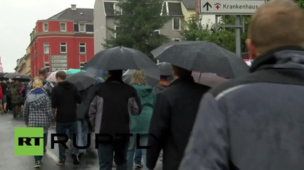 Germany: Far-right march against refugees met by counter-protests in Riesa